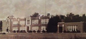 Historic Southside High School building exterior