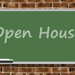 Open House written on a Chalkboard