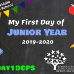 DHS Junior First Day Photo Board