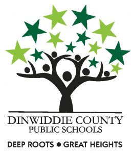 Dinwiddie County Public Schools, Deep Roots, Great Heights Logo