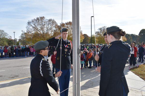 Nov 2019 Cadets Raising Flag
