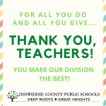 For all you do and all you give... Thank you, teachers! You make our division the best!