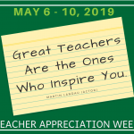 Teacher Appreciation Week, May 6-10, 2019, Great Teachers Are the Ones Who Inspire You -- Martin Landou (actor)